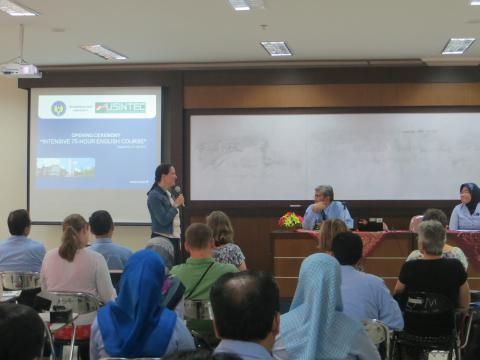 Opening Ceremony of the Intensive 75 hour English Course